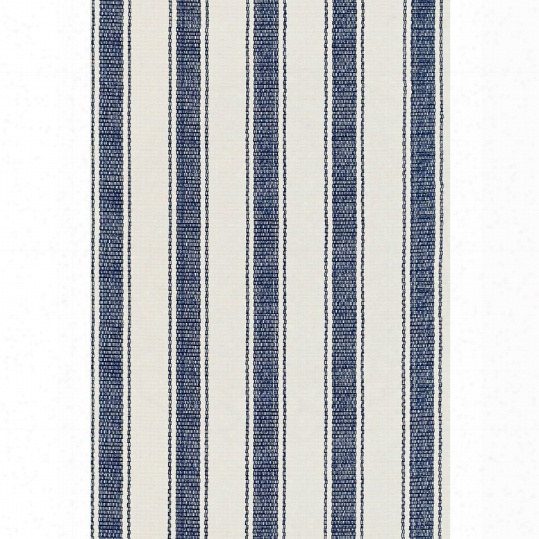 Blue Awning Stripe Indoor/outdoor Rug Design By Rush & Albert