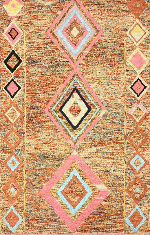 Bokja Wool Area Rug In Multi Design By Nuloom