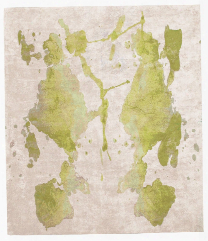 Borgata Palo Hand Knotted Rug In Green Design By Second Studio