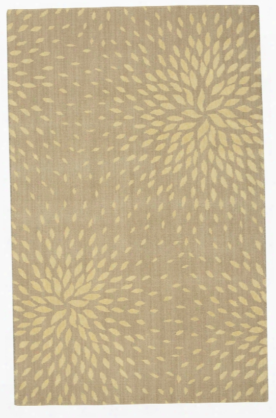 Capri Collection Wool And Viscose Area Rug In Beige Design By Nourison