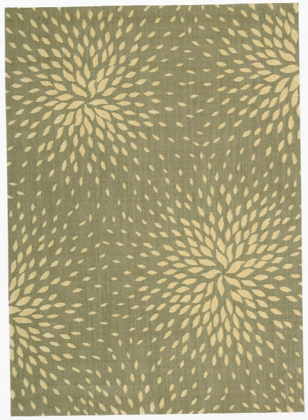 Capri Collection Wool And Viscose Area Rug In Light Green Design By Nourison