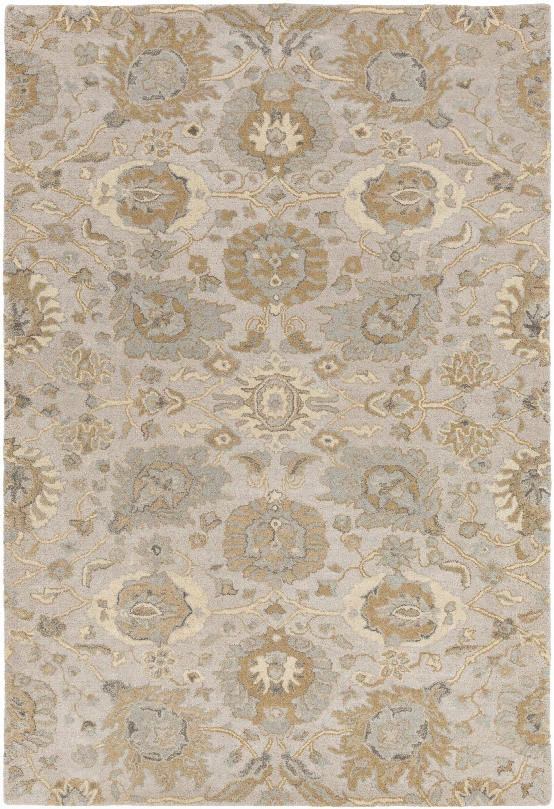 Castello Rug In Light Grey & Beige Design By Surya
