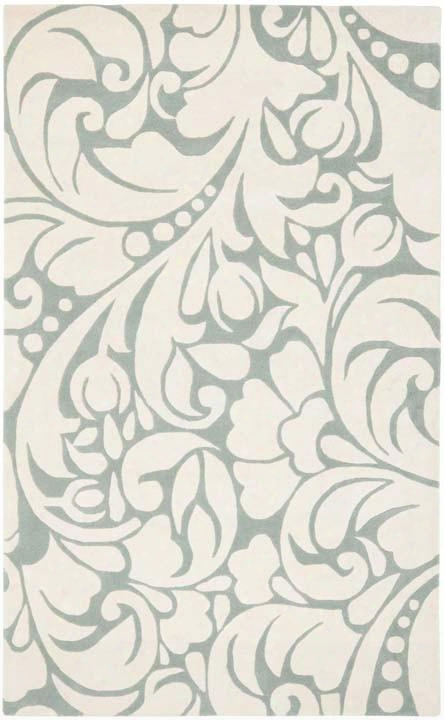Soho Collection Wool Area Rug In Blue And Ivory Design By Safavieh