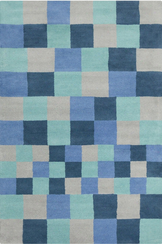 Stella Collection Hand-tufed Area Rug In Blue & Grey Design By Chandra Rugs