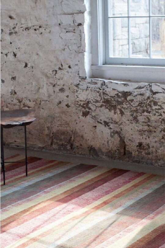 Stonover Stripe Hand-knotted Rug Design By Dash & Albert