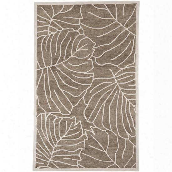 Studio Collection Wool Area Rug In Antique White And Mushroom Design By Surya