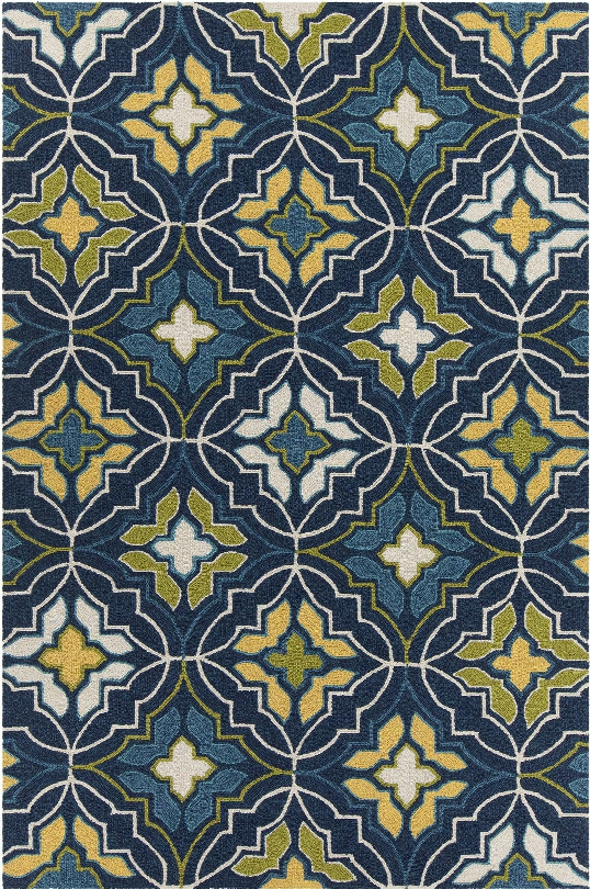 Terra Collection  Hand-tufted Area Rug In Blue, Green, Yellow, & Cream Design By Chandra Rugs