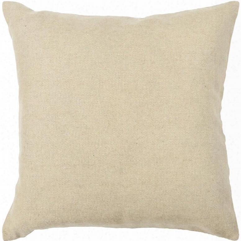 Wool Pilllow In Beige Design By Chandra Rugs