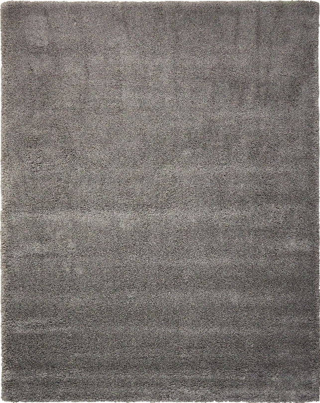 Yummy Shag Rug In Silver - Kath Ireland Home By Nourison