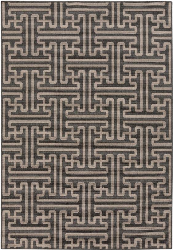 Alfresco Outdoor Rug In Black & Camel Design By Surya