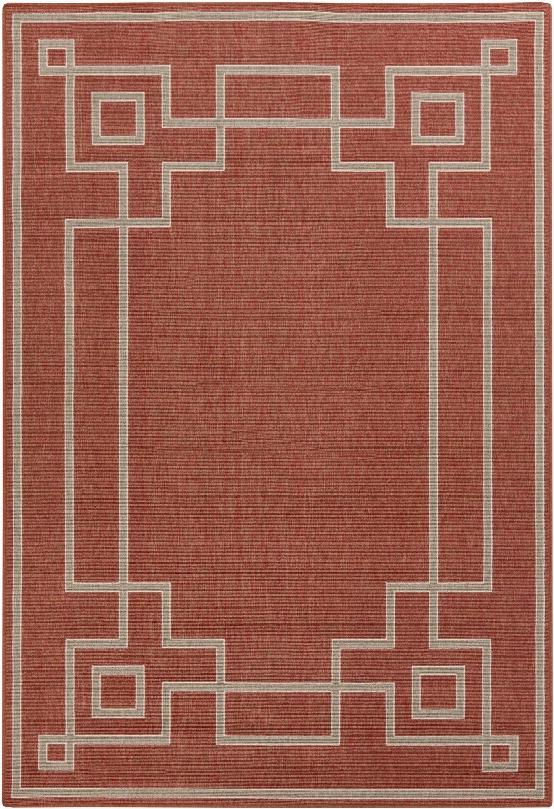 Alfresco Outdoor Rug In Rust && Camel Design By Surya