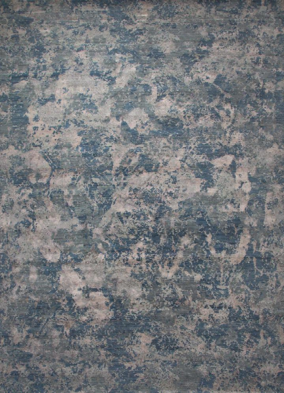 Chaos Theory Rug In Ensign Blue & Steel Gray Design By Jaipur