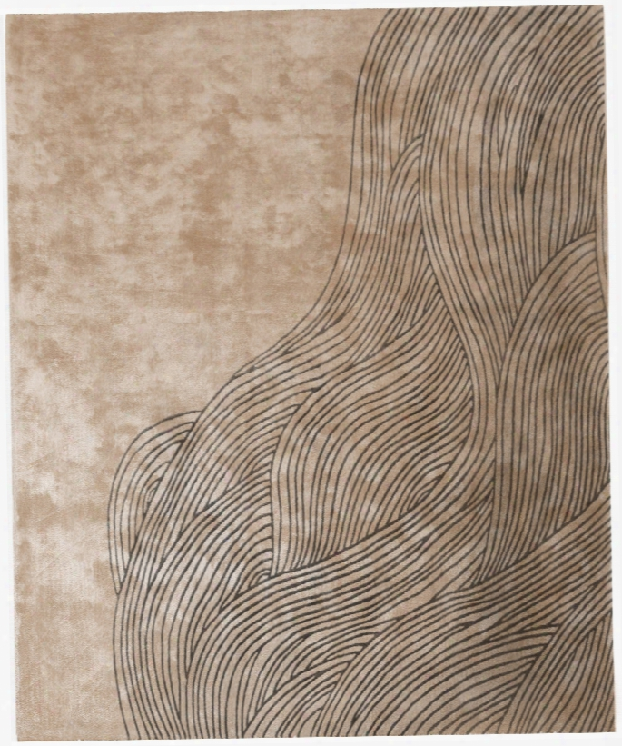 Continua Laguna Laborer Tufted Rug In Beige & Black Design By Second Studio