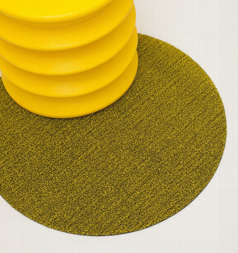 Point Shag Indoor / Outdoor Mat In Citron Design By Chilewich