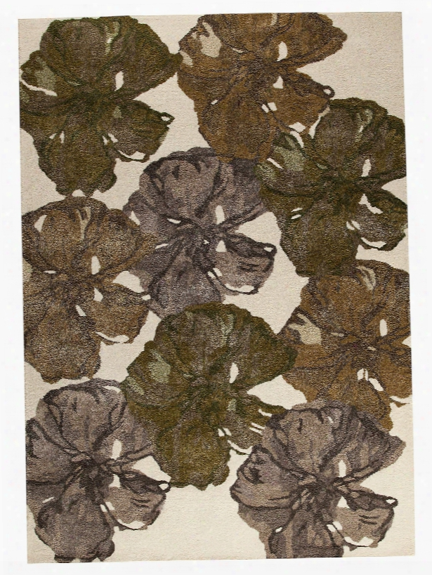 Dublin Floral Collection Wool And Viscose Area Rug In Fall Design By Mat The Basics