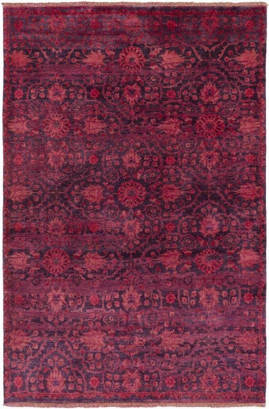 Empress Rug In Burgundy & Bright Red Design By Surya
