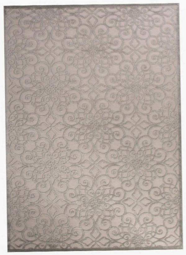 Fables Rug In Bright White & Grey Violet Design By Jaipur