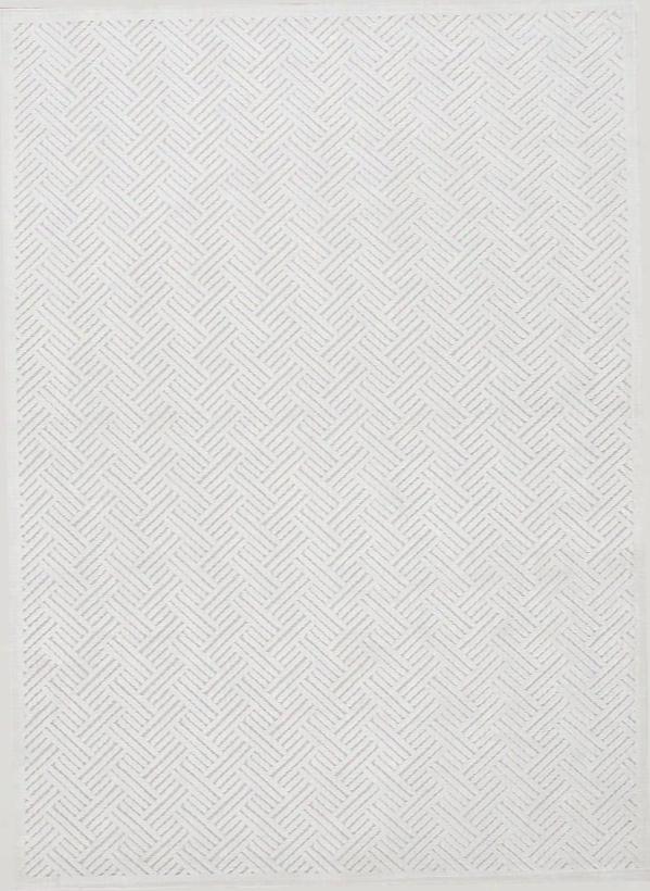 Fables Rug I N Bright White & White Sand Design By Jaipur