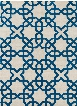 Davin Collection Hand-Tufted Area Rug in White & Blue design by Chandra rugs